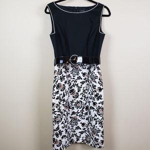 Tahari ASL Belted Dress 6